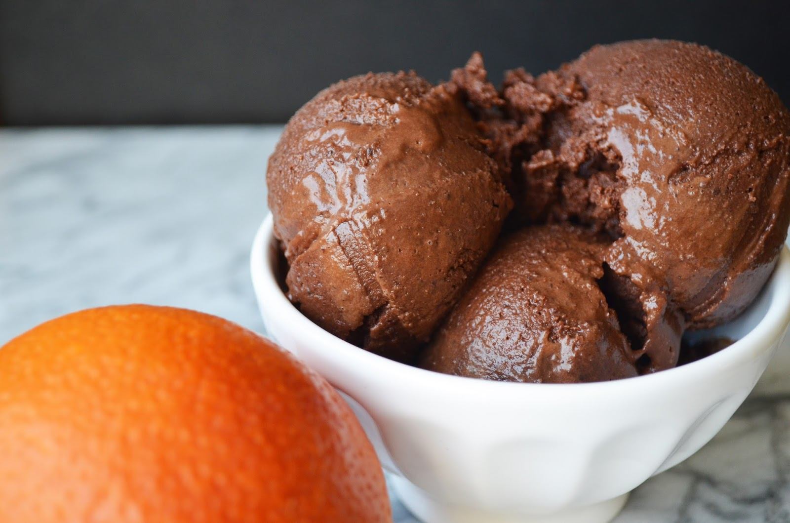 Creamy Blood Orange Dark Chocolate Sorbet