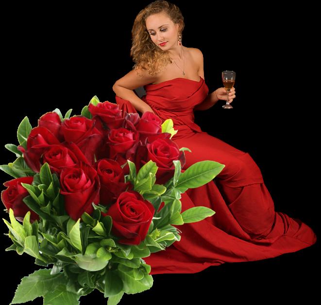 Плейкасты с днем рождения для женщины цветы