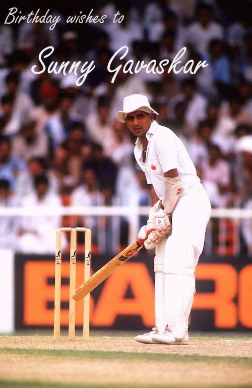Birthday Sunil Gavaskar