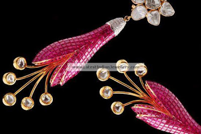 ruby earrings Birdhichand Ghanshyamdas Jewellers