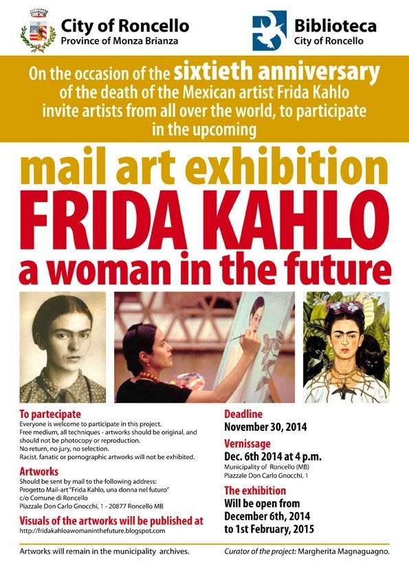 mail art projects frida kahlo project