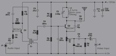 tv transmitter and pal video modulation schematic diagram   wiring, Wiring diagram