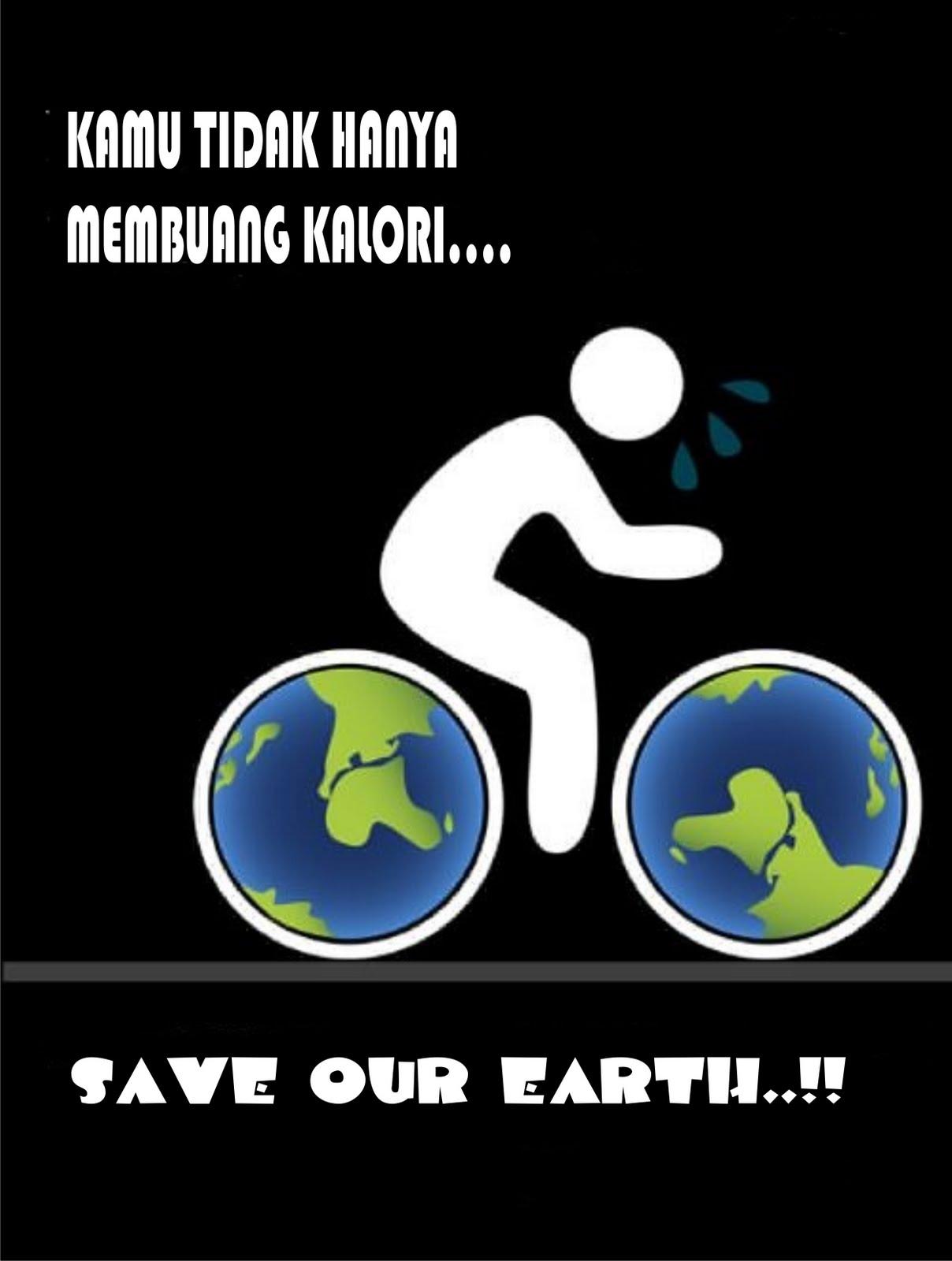 individu yang saya buat. Poster ini bertema tentang cinta lingkungan