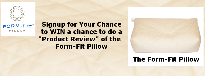 Win a Chance to Review a Form-Fit Pillow