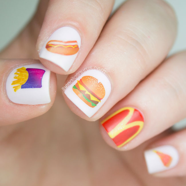 And Make It Fast Food Nail Art The Nailasaurus