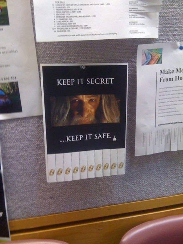 Keep It Secret - Keep it Safe - Take The Ring