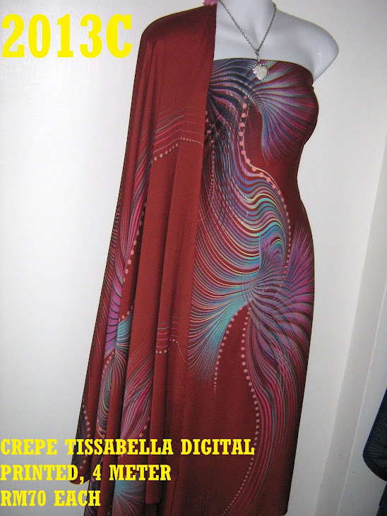 CTD 2013C: CREPE TISSABELLA DIGITAL PRINTED, EXCLUSIVE DESIGN, 4 METER