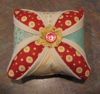 Cathedral Window Pin Cushion ~ Quick and Easy!