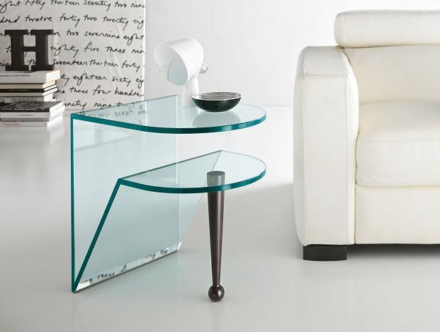 Living room elegantes con mesas de centro de cristal Mesas de cristal pequenas