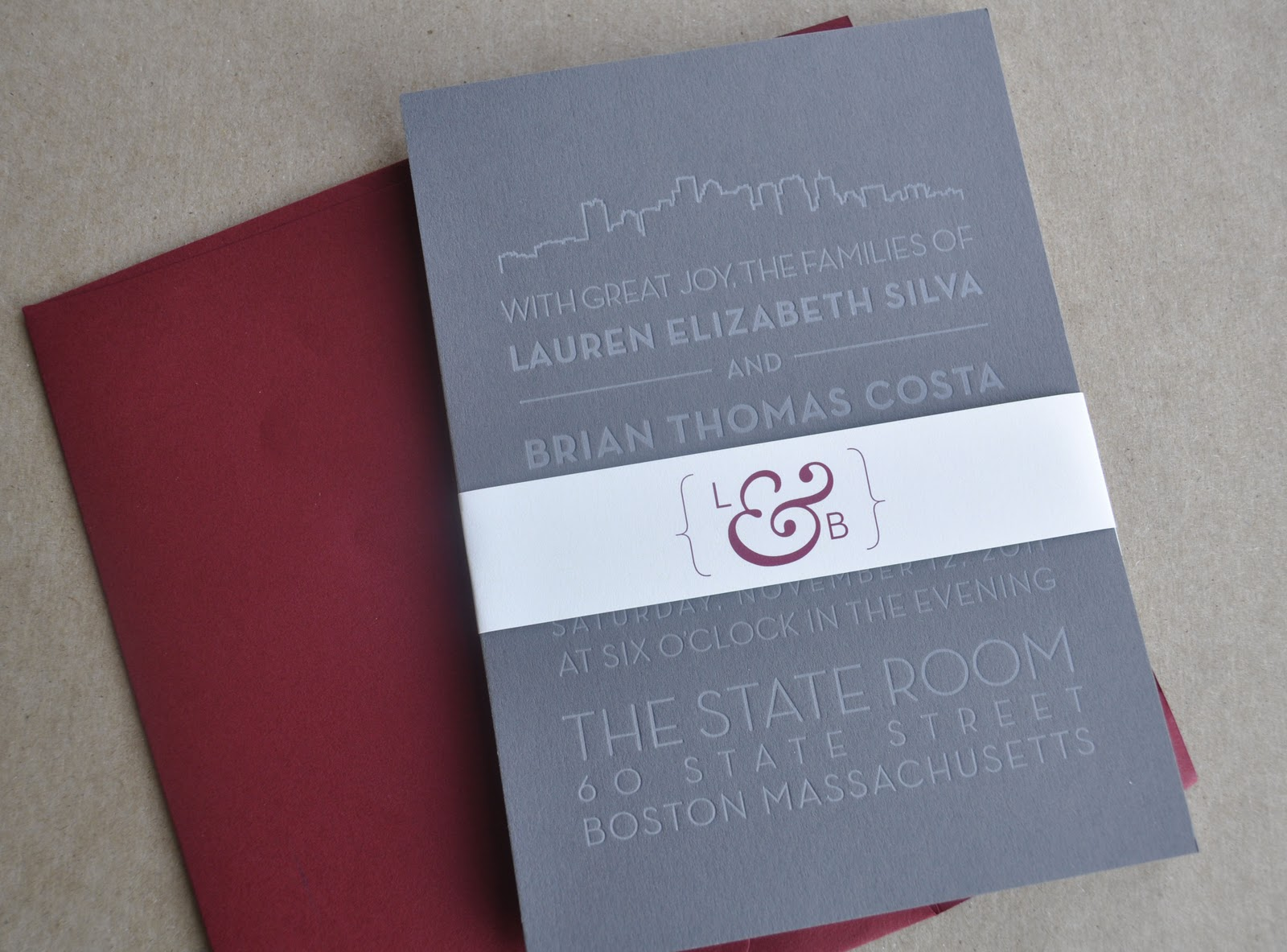 Paper Relish: Wedding Invitations: Beantown Chic