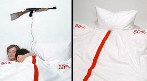 lado da cama que o casal dorme