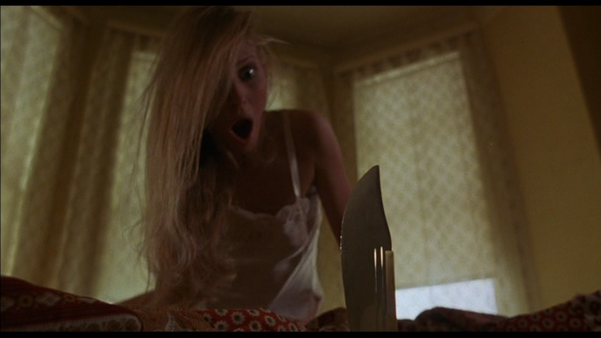 A knife through the mattress in Alone In The Dark (1982)