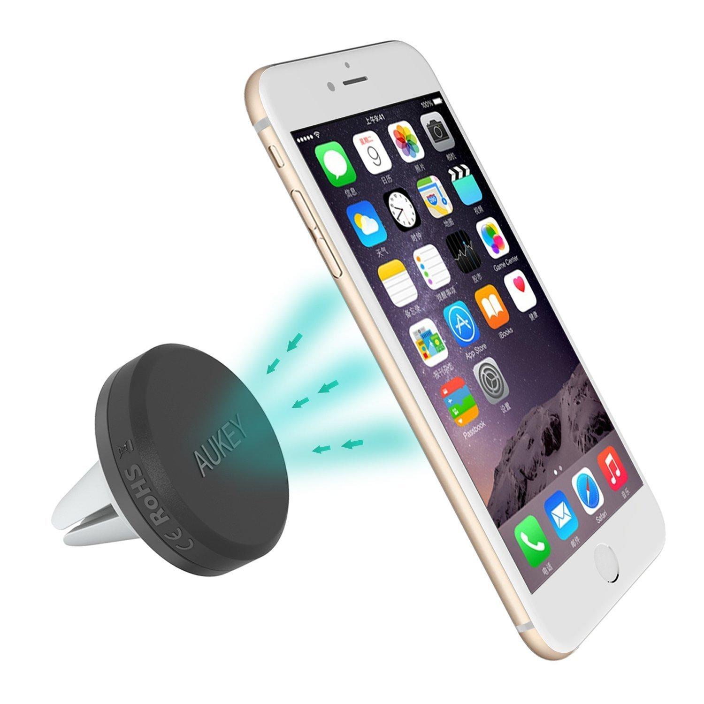 aukey support magn tique voiture auto grille d 39 a ration universel pour apple iphones android. Black Bedroom Furniture Sets. Home Design Ideas