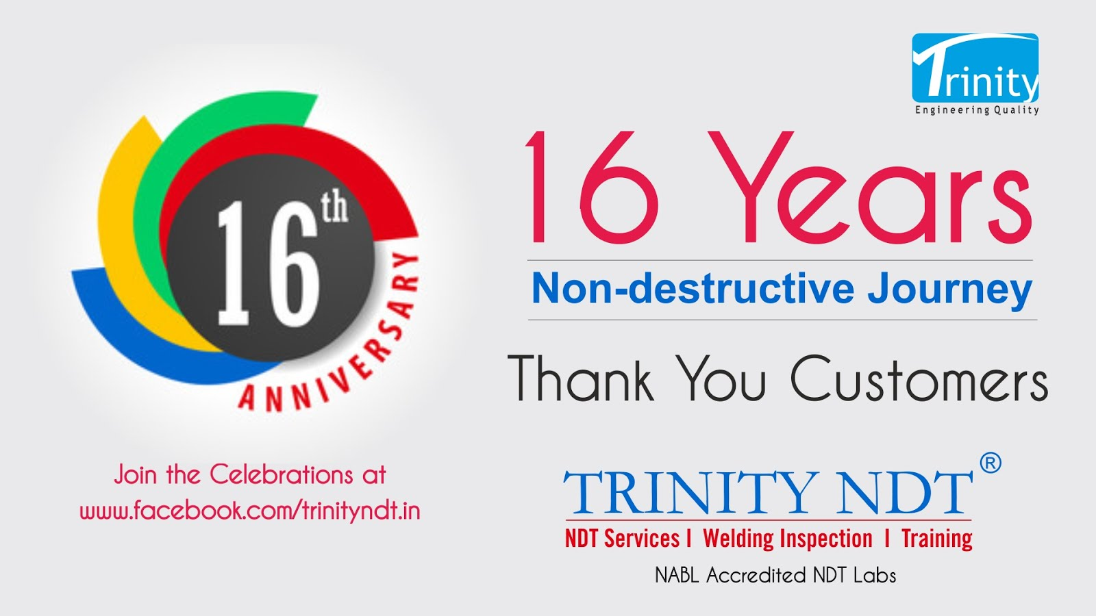 16th Anniversary Celebrations at Trinity NDT