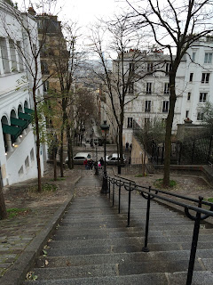 Treppe zum Montmartre, Sacre Coeur, Paris