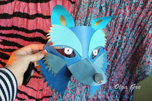 Маска волка из бумаги своими руками фото