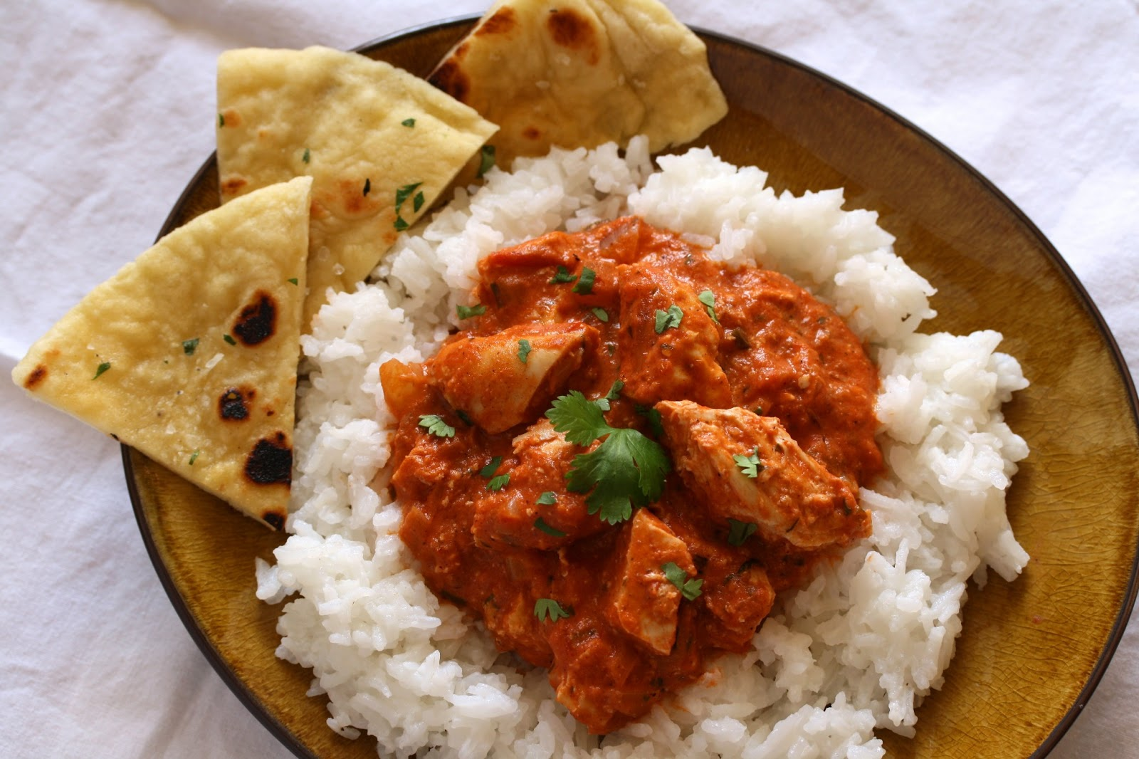 Served with homemade naan bread – recipe coming later this week!