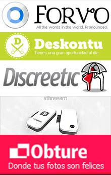 Forvo.com, Deskontu.com, Discreetic.com, Engineea y Obture.com