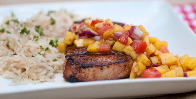 Roasted Pork with Mango Salsa Recipe