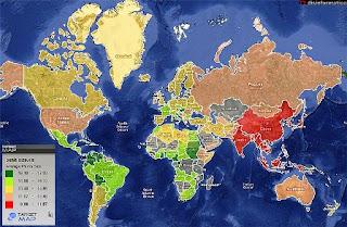 """Faça click sobre a imagem para ir ao """"Mapa Mundial do Pénis"""""""