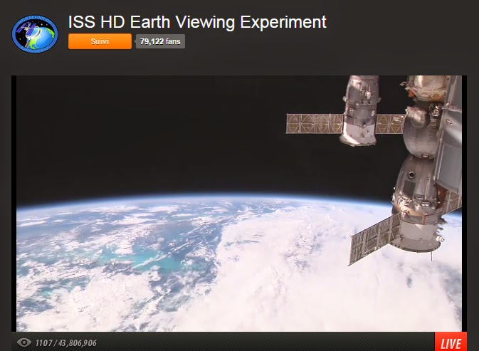 Bouillons de cultures webcam hd sur iss for Iss espace vert