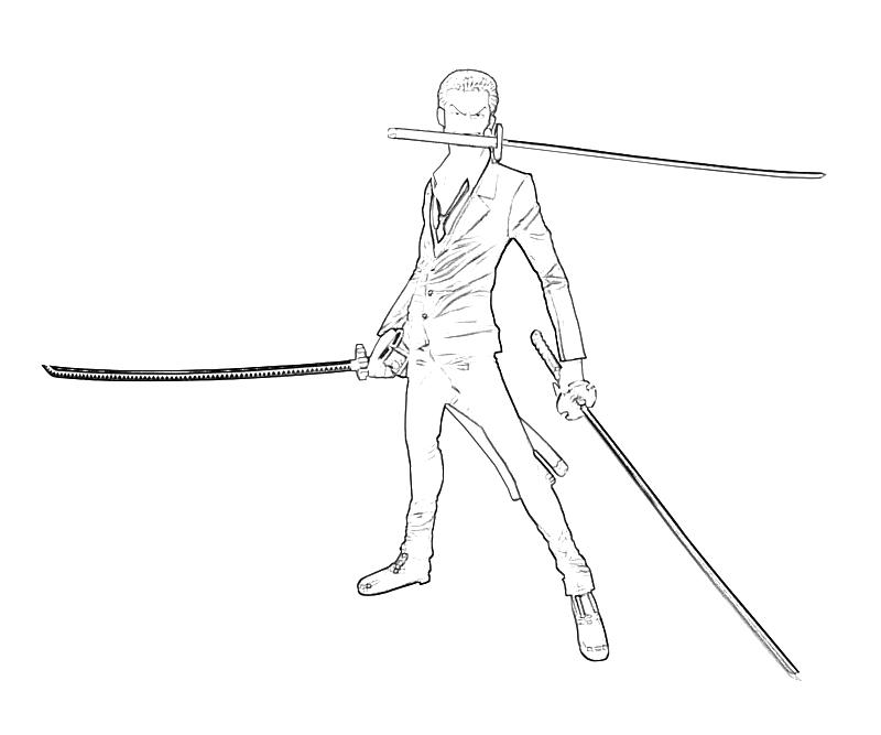 Coloring Pages Zorro : One piece coloring pages zoro images