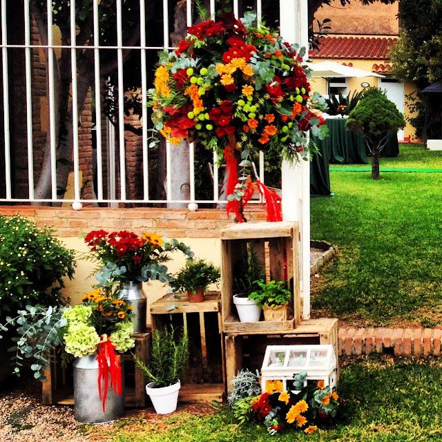 Composición floral welcome entrada Boda Valencia