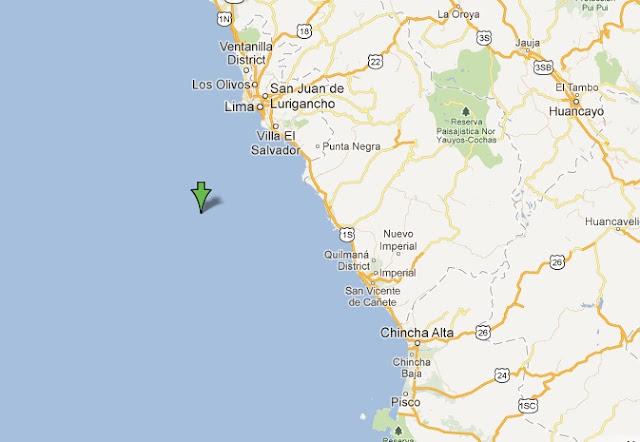 mapa epicentro temblor lima y callao 8 junio 2012