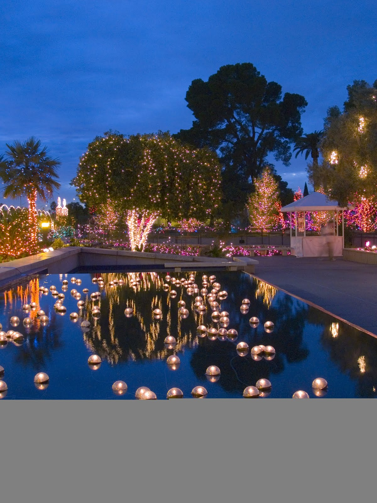 Floating candles pool for Garden pool party