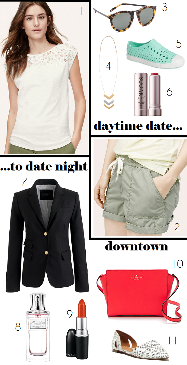 How to transition a date look from afternoon fun in the sun to an evening downtown
