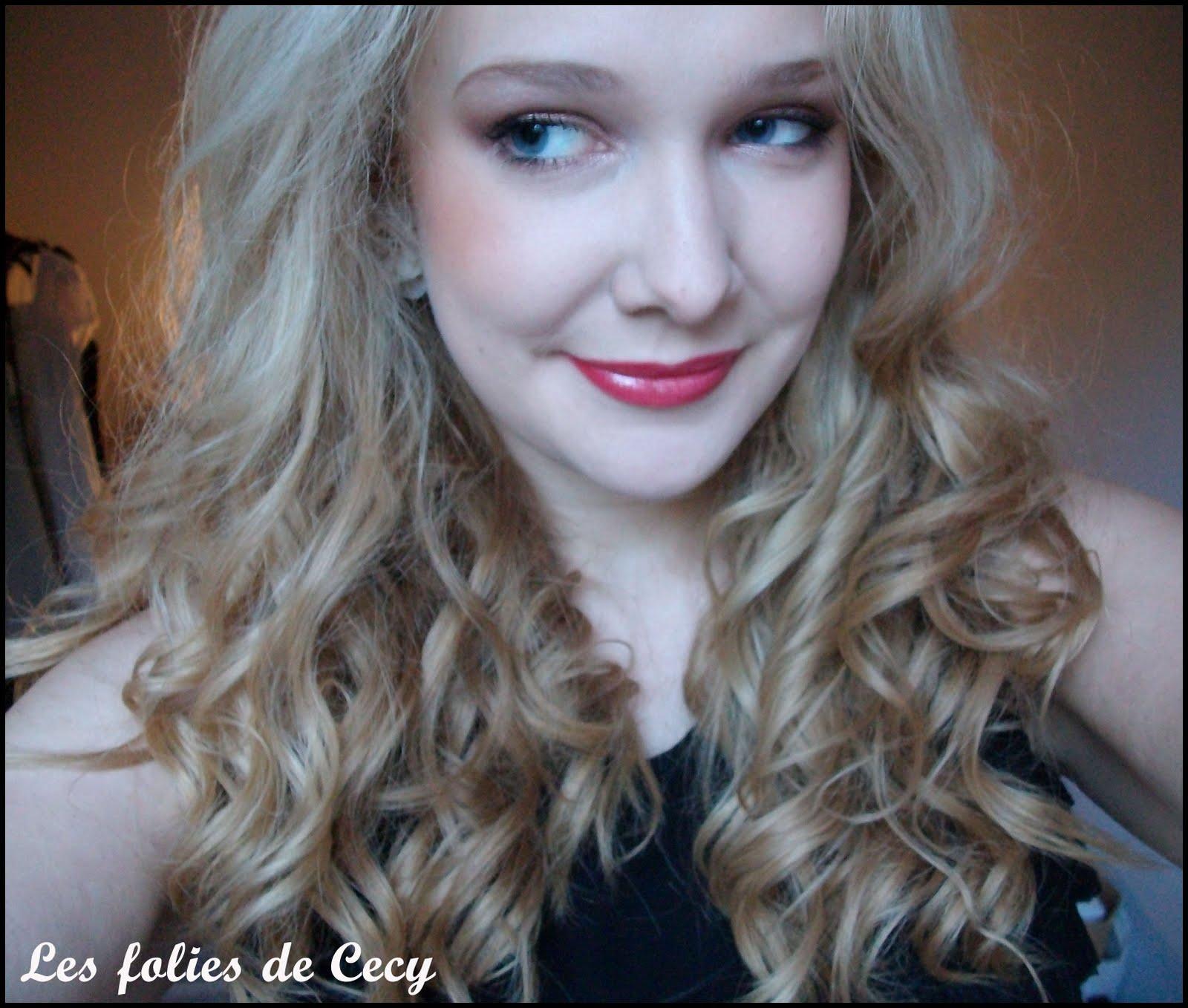 Assez Boucles glamour avec un lisseur - Cecysmily FZ48
