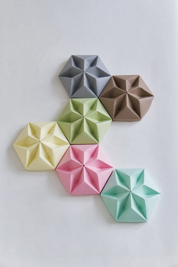 Origami Decoracion Pared ~ Decoraci?n F?cil DIY  DECORAR LA PARED CON MURALES DE ORIGAMI
