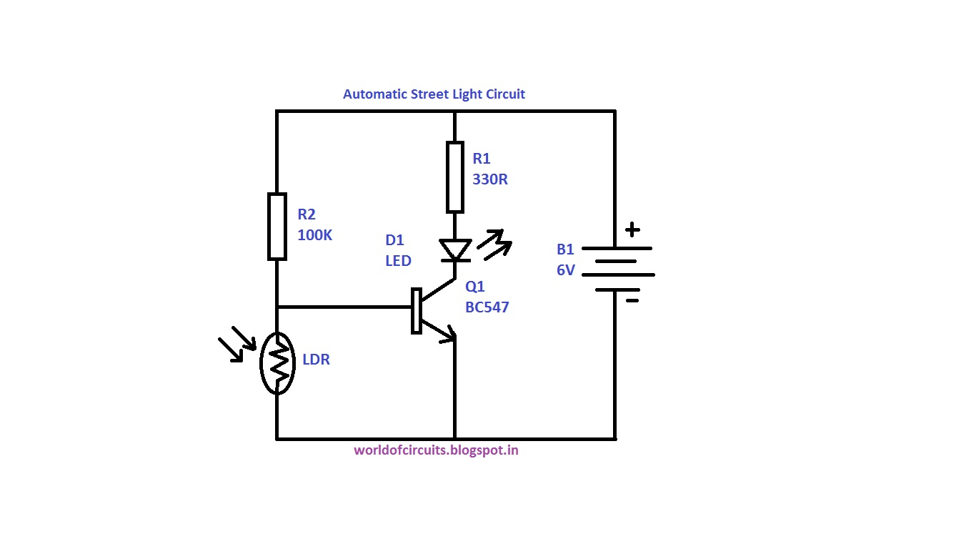 Automatic Street Light Circuit on lighting diagrams