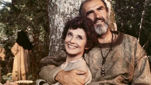 Audrey Hepburn y Sean Connery