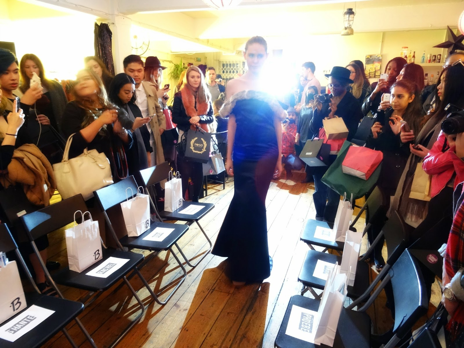 Fashion show at a blogging event