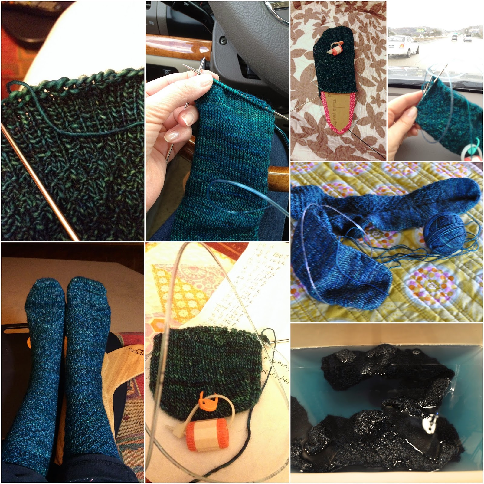 madelinetosh knit socks