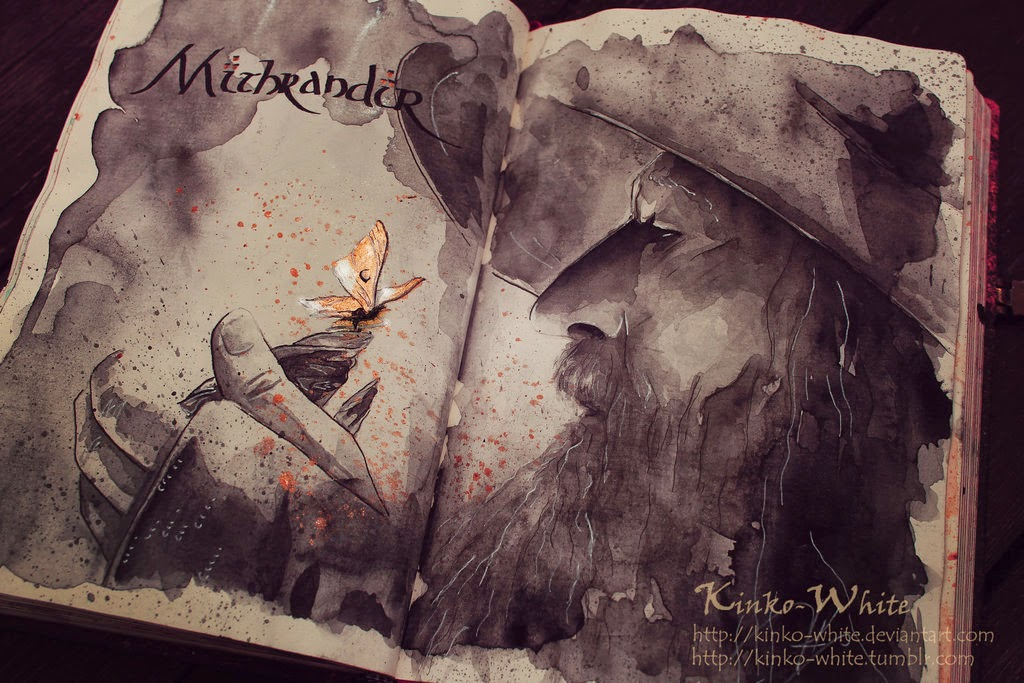 20-Mithrandir-Kinko-White-The-Hobbit-Watercolors-www-designstack-co
