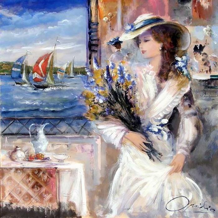 Romantic Venice painting by Lovilla Chantal [Ловилла Шанталь]