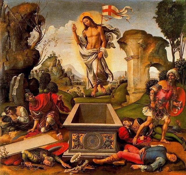 Resurrección de Cristo obra del pintor italiano Raffaellino del Garbo