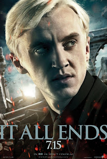 "Harry Potter and the Deathly Hallows: Part 2 ""It All Ends"" Portrait Movie Poster Set - Tom Felton as Draco Malfoy"