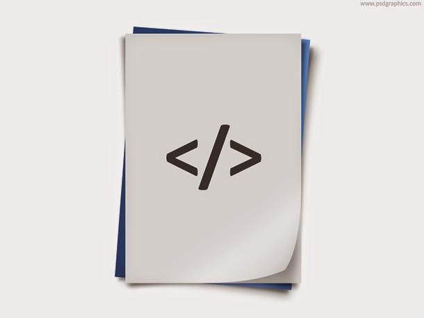 Programming Code Icon PSD