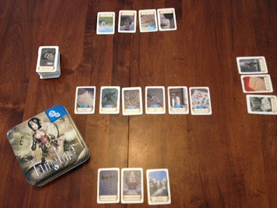 Timeline card game in play