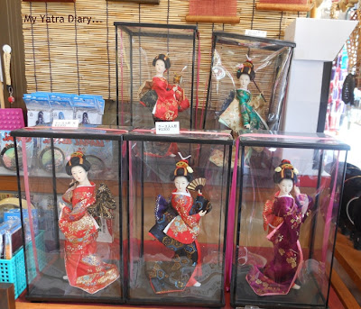Japanese Dolls- Nakamise Dori Shopping arcade, Sensoji Temple - Japan