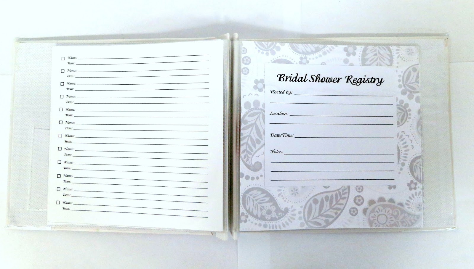 Pressed clovers shower registry book great gift idea for When do you register for wedding gifts