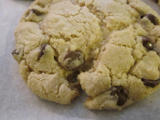 Dimples & Delights: Thick and Chewy Chocolate Chip Cookies