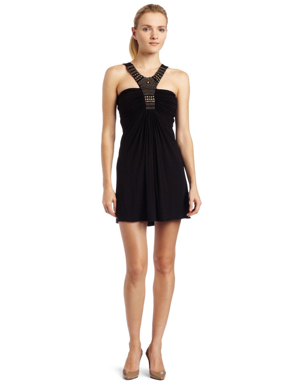halter black mini dress fanzpixx. Black Bedroom Furniture Sets. Home Design Ideas