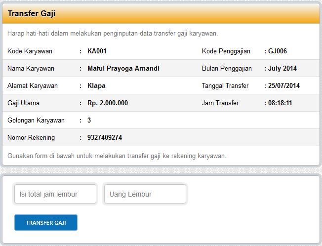 04 - Aplikasi Honor Karyawan Dengan Php Mysql