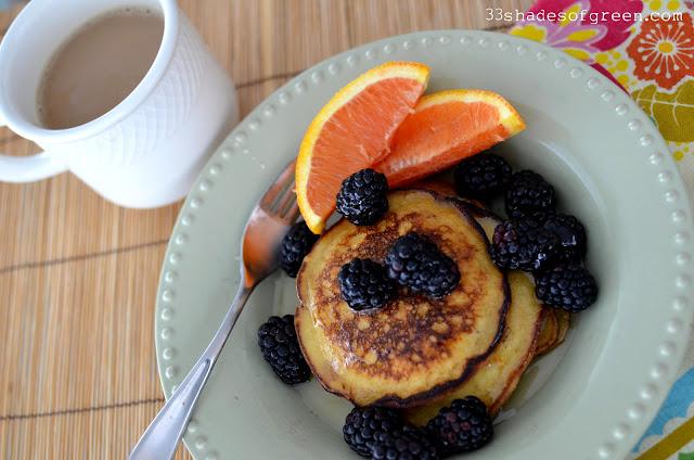 tasty tuesdays: orange ricotta pancakes with vanilla orange syrup