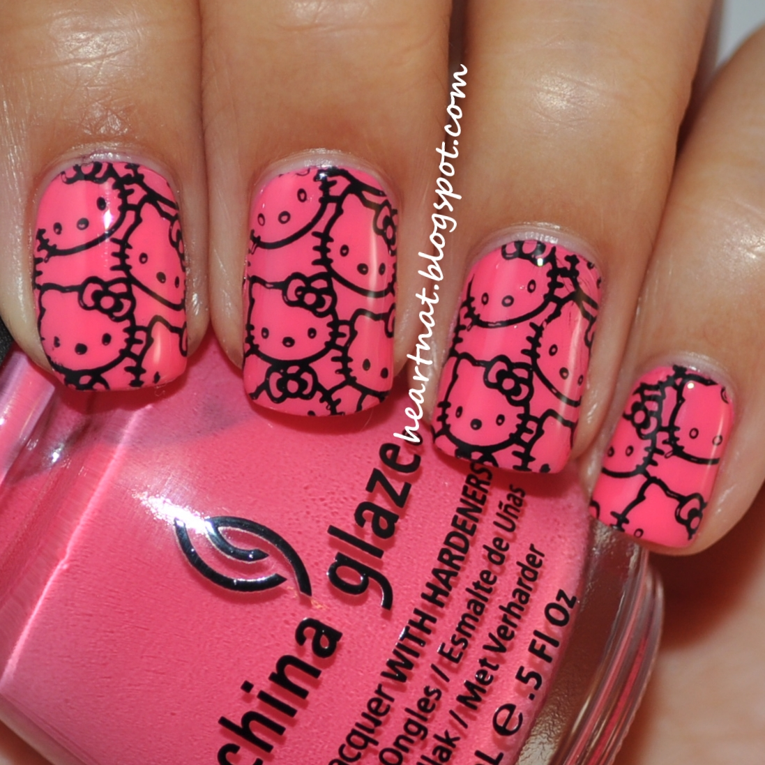 The Cool Pictures of hello kitty nail designs Images