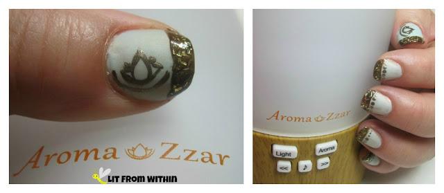 Aroma Zzar-inspired nailart